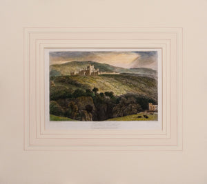 Lowther Castle - Antique Steel Engraving circa 1836