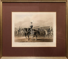 '4th (The Queen's Own) Light Dragoons' Fine Lithograph in Old Hand Colouring circa 1840