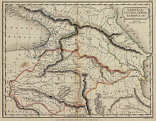Load image into Gallery viewer, Armenia Colchis Iberia Albania - Antique Map circa 1833