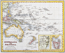 Load image into Gallery viewer, Australasia and Polynesia - Antique Map circa 1827