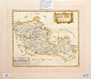 Barkshire - Antique Map by Robert Morden circa 1753