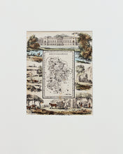 Load image into Gallery viewer, Bedfordshire - Antique Map by R Ramble circa 1845