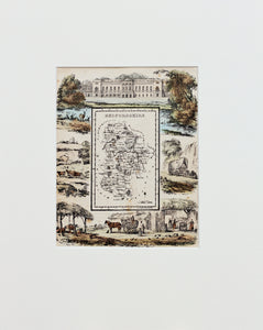 Bedfordshire - Antique Map by R Ramble circa 1845