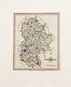 Bedfordshire - Antique Map by J Cary circa 1809