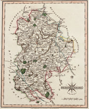 Load image into Gallery viewer, Bedfordshire - Antique Map by J Cary circa 1809