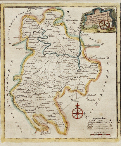 Bedfordshire - Antique Map by Thomas Kitchin circa 1749/86