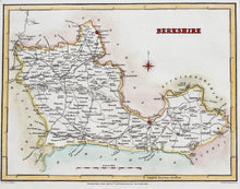 Load image into Gallery viewer, Berkshire - Antique Map by R Creighton circa 1836