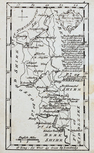 Buckinghamshire - Rare Antique Map circa 1759
