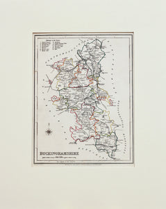Buckinghamshire - Antique Map by JC Walker 1850