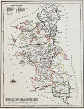Load image into Gallery viewer, Buckinghamshire - Antique Map by JC Walker 1850