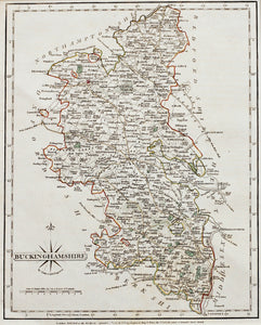 Buckinghamshire - Antique Map by John Cary 1787