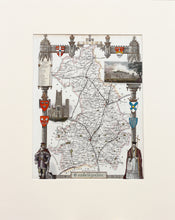 Load image into Gallery viewer, Cambridgeshire - Antique Map by Thomas Moule circa 1848