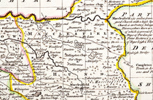 Load image into Gallery viewer, Emanuel Bowen's Map of Cheshire Divided into Its Hundreds - circa 1767