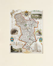 Load image into Gallery viewer, Derbyshire - Antique Map by T Moule circa 1848
