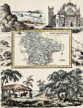 Load image into Gallery viewer, Devonshire Antique Map by R Ramble circa 1845