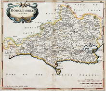 Load image into Gallery viewer, Dorsetshire - Antique Map by Robert Morden circa 1695