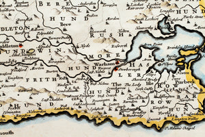 Dorsetshire - Antique Map by Robert Morden circa 1695