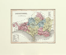 Load image into Gallery viewer, Dorsetshire - Antique Map by J Archer circa 1848