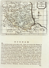 Load image into Gallery viewer, Durham - Antique Map by Seller circa 1785