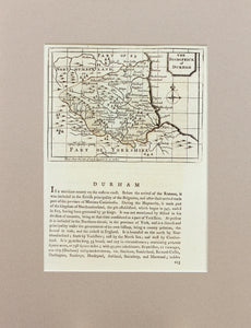 Durham - Antique Map by Seller circa 1785
