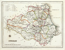 Load image into Gallery viewer, Durham - Antique Map by T Starling circa 1848