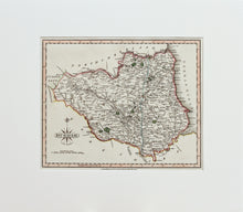 Load image into Gallery viewer, Durham - Antique Map by J Cary circa 1809
