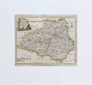 A Modern Map of Durham... - Antique Map by J Ellis circa 1777