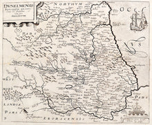 Load image into Gallery viewer, Antique Map of the North East of England - 1637