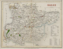 Load image into Gallery viewer, Essex - Antique Map by J Archer circa 1848