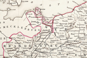 Germany - Antique Map circa 1860