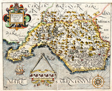 Load image into Gallery viewer, Glamorgan Comitatus Qui Olim Pars Silurum - Antique Map of Glamorganshire 1637