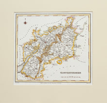 Load image into Gallery viewer, Gloucestershire - Antique Map by JC Walker circa 1831