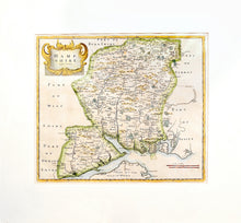 Load image into Gallery viewer, Map of Hampshire - Antique Map by Robert Morden circa 1695