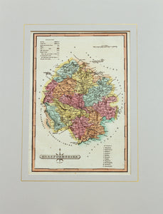 Herefordshire - Antique Map by J Wallis circa 1814