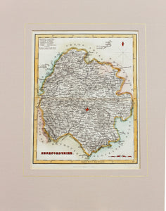 Herefordshire - Antique Map by Fullarton circa 1850