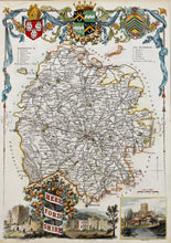 Load image into Gallery viewer, Herefordshire - Antique Map by Thomas Moule circa 1842