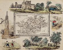 Load image into Gallery viewer, Hertfordshire - Antique Map by R Ramble circa 1845