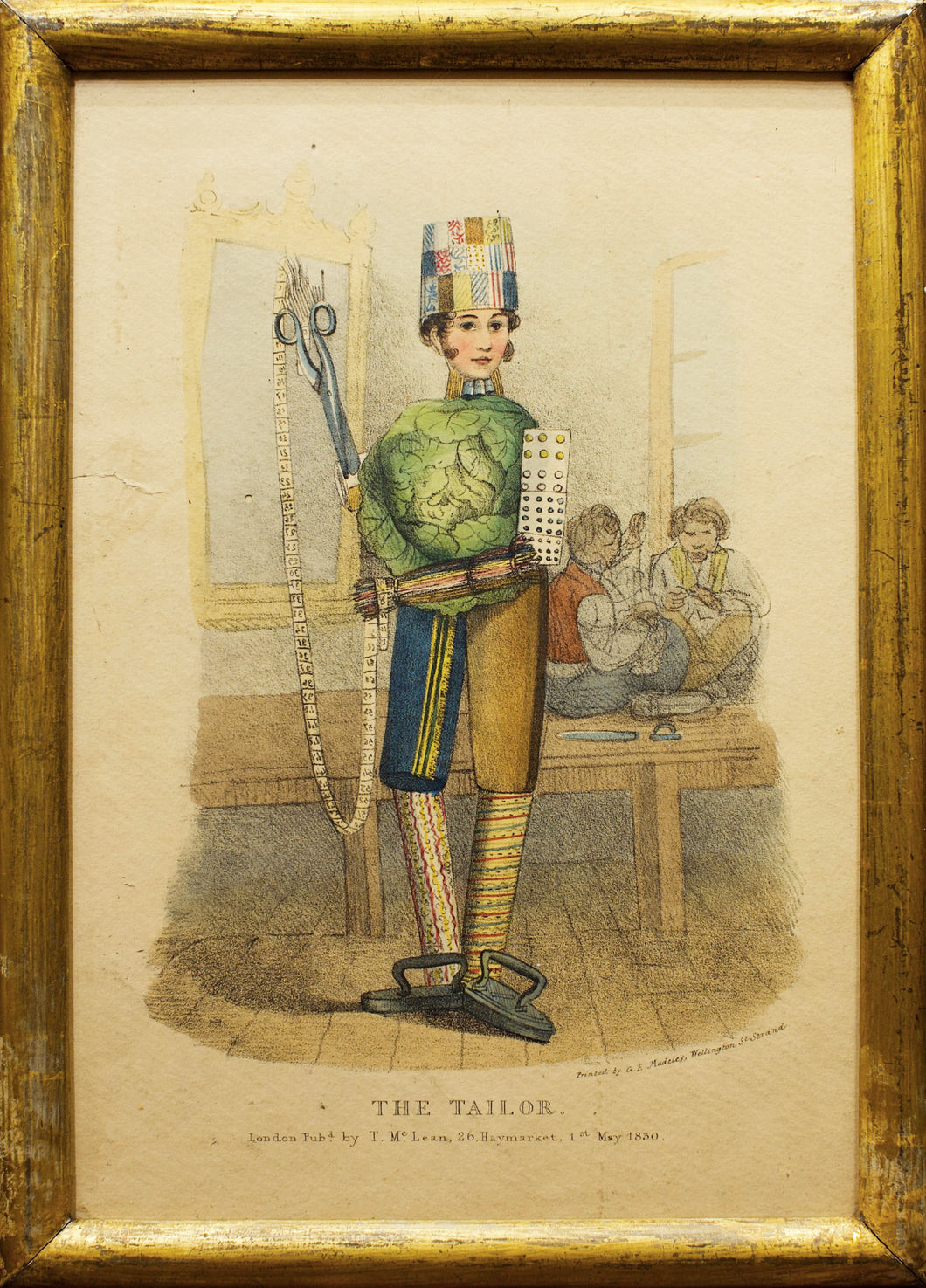 The Tailor - Antique Caricature 1830