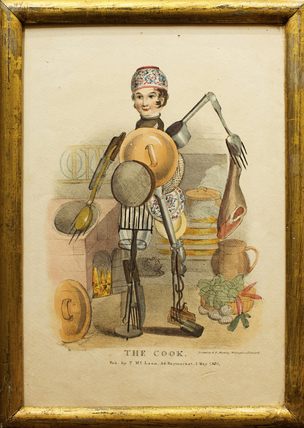 The Cook - Antique Caricature 1830