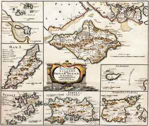 The Smaller Islands in the British Ocean - Antique Map by Robert Morden 1695