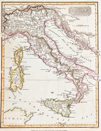 'Italy' - Antique Map, circa 1815