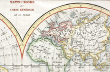 Load image into Gallery viewer, Mappe-Monde Map of the World - Copper Engraving circa 1780
