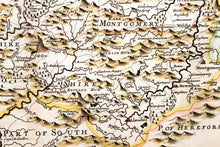 Load image into Gallery viewer, North Wales - Antique Map by Robert Morden circa 1695