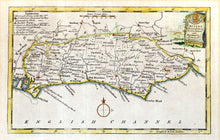 Load image into Gallery viewer, Map of Sussex - Antique Map by Thomas Kitchin circa 1786