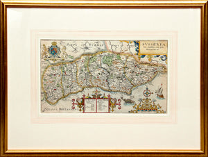 Sussexia Sive Southsex. Olim Pars Regnorum - Antique Map of Sussex 1637