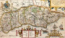 Load image into Gallery viewer, Sussexia Sive Southsex. Olim Pars Regnorum - Antique Map of Sussex 1637