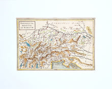 Load image into Gallery viewer, Vindelicia Rhaetia et Noricum - Antique Map circa 1745