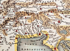 Vindelicia Rhaetia et Noricum - Antique Map circa 1745