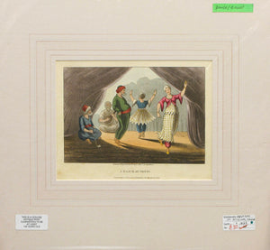 A Dance at Genin - Antique Aquatint 1823