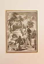 Load image into Gallery viewer, A Frontispiece - Antique Copper Engraving circa 1714